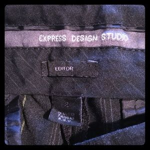 Express trouser black with Olive pin stripe, 2